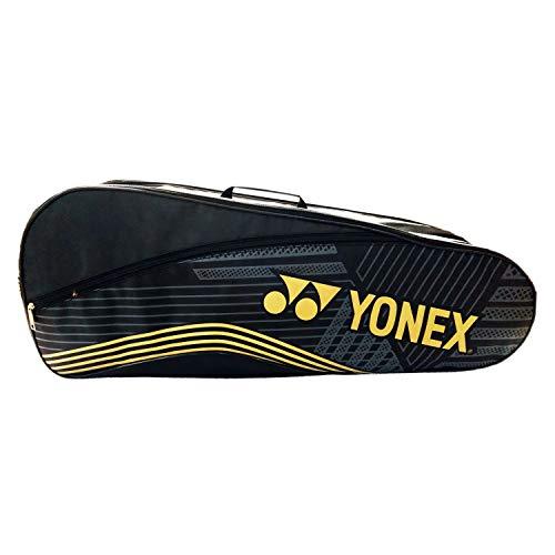 Yonex S15 Extra Volume 2 in 1 Badminton Kitbag, Black/Gold