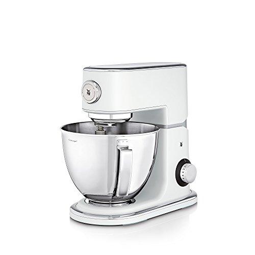 WMF Profi Plus Küchenmaschine, 1000 W, Cromargan-Rührschüssel 5 l, planetarisches Rührwerk, 8 Geschwindigkeitsstufen, metal white