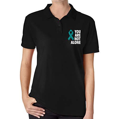 KHY8FN&J Sexual Assault Awareness Women's Short Sleeves Polo Shirt Women Tee Shirt Black