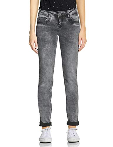 Street One Damen 372466 Jane Casual Fit Slim Jeans, Grau (Black Overdyed Bleached 11992), W32/L32 (Herstellergröße:32)