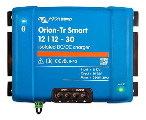 Victron Energy Orion-Tr Smart 12/12-Volt 30 amp 360-Watt DC-DC Charger, Isolated (Bluetooth)