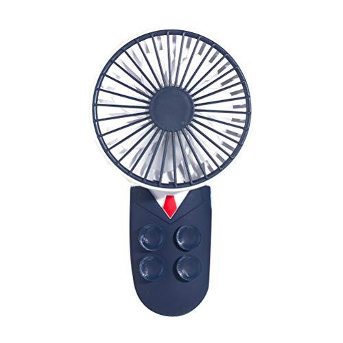 Borstu - Ventilador de mano portátil USB plegable con soporte para teléfono móvil para casa, oficina, camping