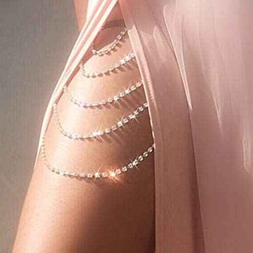 Reetan Boho Crystal Leg Chains G...