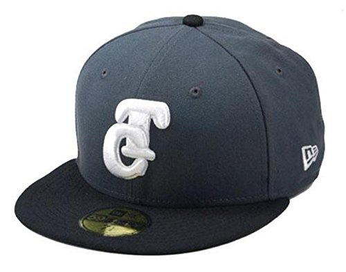 New Era Baseball 59fifty Fitted Hat Pacific League Tomateros De Culiacan Men's Cap Charcoal/black/white (6 7/8)