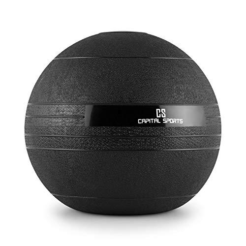 CapitalSports Capital Sports Groundcracker Pelota de Peso 25kg (Balón Medicinal Goma, Relleno Arena y Hierro, lanzamientos sin Rebote, Superficie Rugosa Antideslizante)