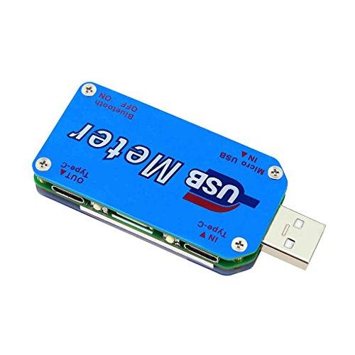 Preisvergleich Produktbild UM25C / UM25 USB 2.0 Typ- C Farbe LCD Voltmeter Amperemeter Spannungs- strom- meter Batterie- lade messen Kabelwiderstand Tester