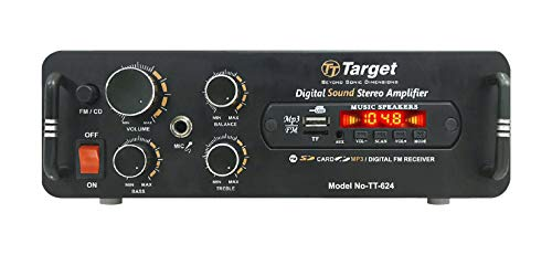 TARGET TT - 624 HIGH POWER STEREO AMPLIFIER With USB,AUX,MIC,BLUTHOOTH,AV,2RC-BUILT IN BLUTHOOTH WITH 4440 DOUBLE IC CIRCUIT POWER AV AMPLIFIER PERFECT FOR HOME AND OUTDOOR
