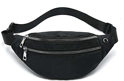 MOCE Waist Bag Fanny Pack for Men & Women Fashion Water Resistant Hip Bum Bag with Adjustable Belt for Travel Hiking Running Outdoor Sports.(Black02)