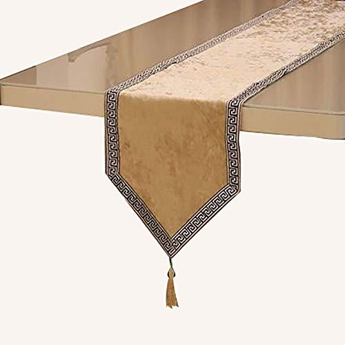 Chemin De Table en Dentelle avec Pompons, Table à Manger Comptoir De Bar, Meuble TV, Armoire De Véranda,(Color:Une,Size:32×180cm)