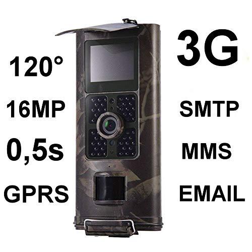 3G 2G 16MP Full HD Wildkamera HC-700G 48 Black LED 0,5 Sek Trigger 120° Fotofalle Überwachungskamera Jagdkamera GSM MMC SMTP SMS Wild Jagd Kamera