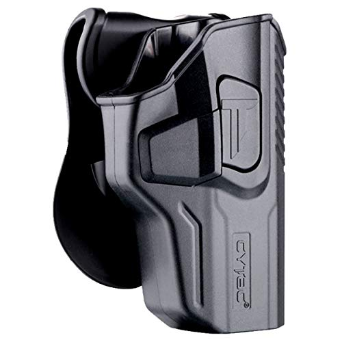 """Walther PPQ M2 9mm 4"""" Holsters, OWB Holster for Walther PPQ M2 / M3(Unfit P22), Polymer Tactical Outside The Waistband Carry Belt Holster with 360° Adjustable Paddle-Right Hand"""