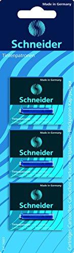 Schneider Schreibgeräte Tintenpatrone für Füllhalter und Patronenroller, königsblau, 3x6er Blisterkarte