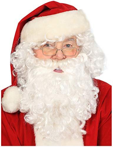 Costume Adventure Deluxe Santa Wig and Beard Santa Beard and Wig Beard White