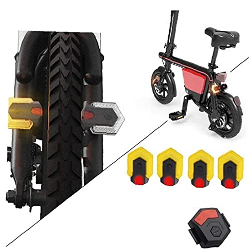 Luz de la Bici, Inteligente de Control Remoto de Bicicletas Intermitentes Delanteros y Traseros Luz MTB Bicicleta de la luz Trasera de la Bicicleta Luces de Advertencia Negro Amarillo