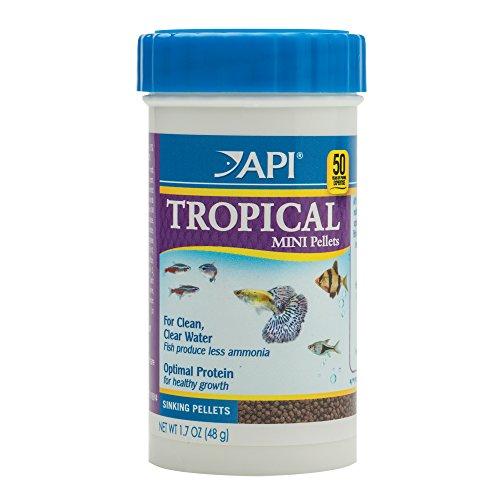API TROPICAL MINI PELLETS Mini Sinking Pellets Fish Food 1.7-Ounce Container
