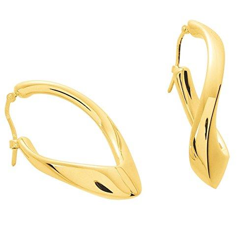 www.diamants-perles.com - Orecchini a cerchio da donna Zivia, in oro giallo 18 carati, diametro mm, spessore mm