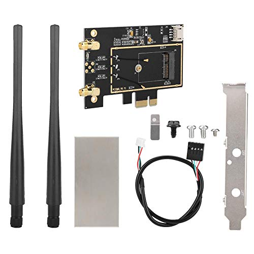 Yosoo Health Gear WiFi WLAN Adapter Intel 8260, M.2 NGFF-Karte, M.2 NGFF zu PCI-E 1X Desktop Netzwerkkartenkonverter für 8260 7265 1535 7260