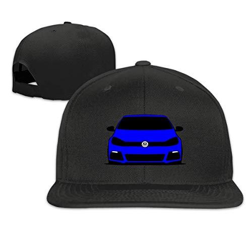 no-brand Snapback Baseball Cap-Vw Golf R Blue Cowboy Hats Mens Hats Adjustable Youth Golf Caps