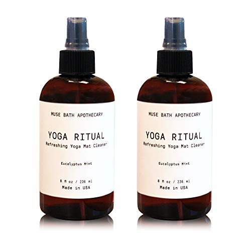 Muse Bath Apothecary Yoga Ritual - Aromatic and Refreshing Yoga Mat Cleaner, 8 oz, Infused with Natural Essential Oils - Eucalyptus Mint, 2 Pack
