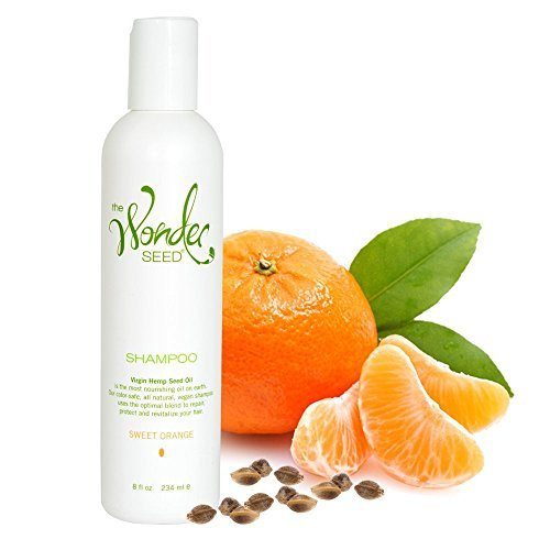 The Wonder Seed Hemp Shampoo, All Natural Organic Formula, Vegan Friendly Blend, Best Solution For Dry Itchy Scalp/Dandruff/Oily Hair and More, Proudly Cruelty Free (Sweet Orange), 8 oz.