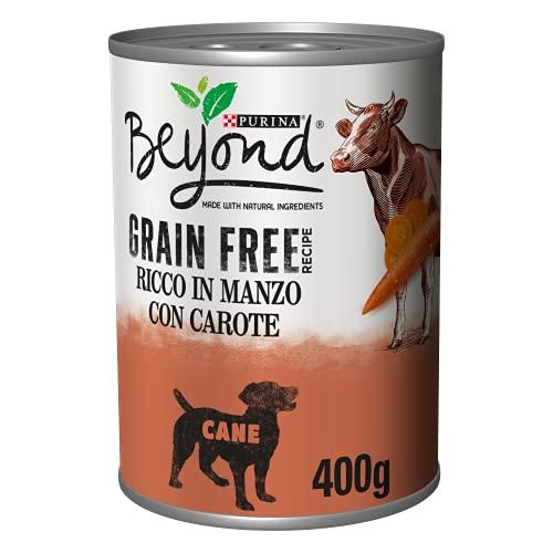 Purina Beyond Húmedo Perro Grain Free Boquillas de paté con Ternera y Zanahorias, 12 latas de 400 g Cada una de Las 12 Unidades de 400 g
