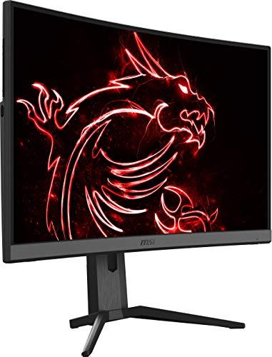 MSI Optix MAG272CQR - Monitor Gaming Curvo de 27' LED WQHD 165Hz (2560 x 1440p, ratio 16:9, Panel VA, pantalla curva 1500R, 1 ms respuesta, brillo 300 nits, Anti-glare) negro
