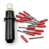 45 Grado Mimaki Cricut de corte plotter vinilo cortador Cuchillas 15 piezas + soporte para Mimaki vivienda