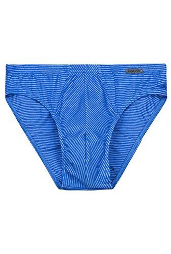 Ammann Herren Unterhose Slip ohne Eingriff mit Ringeloptik, Farbe:Night Blue, Größe:10