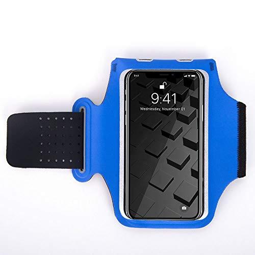 ZWH Correr el Deporte de la Caja del teléfono de Soporte for teléfono móvil Mano Brassard Brazalete iPhone Durante 11 Pro X XS 8 7 6 Millas 8 Millas 9 Sport brazaletes Bolsa (Color : Blue)