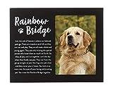 Pearhead Pet Rainbow Bridge Memorial Keepsake Picture Frame, Black