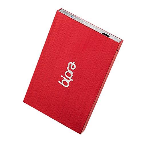 Bipra 2.5 Zoll 160GB Externe Festplatte Portabel USB 2.0 Rot - NTFS