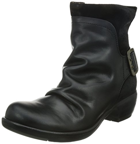 FLY London Mel P141633, Damen Biker Boots, Schwarz (BLACK 003), 42 EU (9 UK)