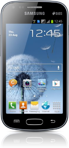 Samsung Galaxy S Duos S7562 Smartphone, Display 4 Pollici, Cortex A5, 1 GHz, 768MB RAM, Fotocamera 5 MP, Android 4.0, Nero [Germania]