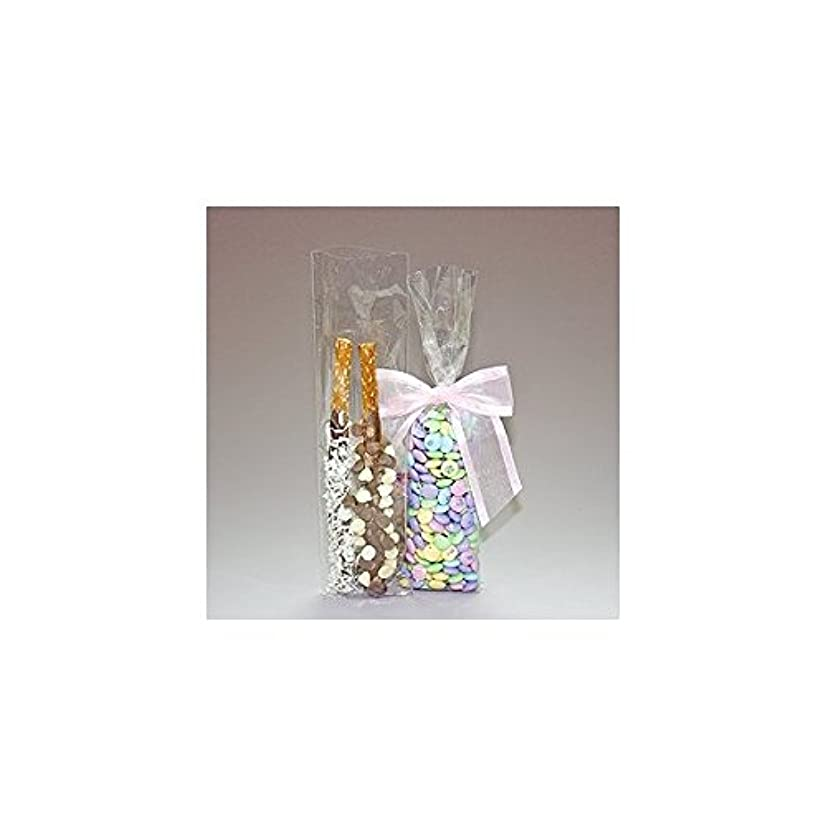 100 Bag Set - Top Quality 3 Inch x 11 Inch Cello Cellophane Bags - Acrylic Coated Crisp Crystal Clear 1.2 Mil