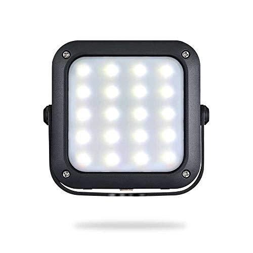 Luz de camping de inundación de trabajo LED portátil, lámpara de lectura magnética del banco magnético del banco del poder del huracán de emergencia de 1000lm 5200mAh, para la tienda, camping, huracán