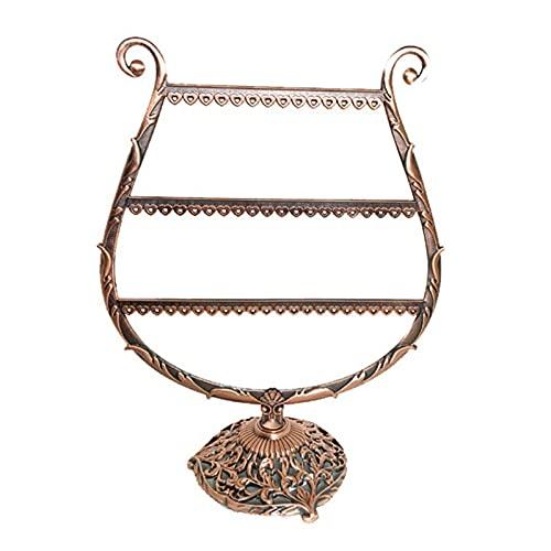Pendientes con forma de copa de corazón / vino estante de almacenamiento de pulsera soporte de exhibición de joyas soporte de perno prisionero organizador de joyas de árbol de asta organizador