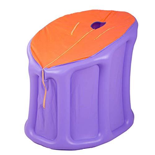 Mini Infrarotkabine, Zuhause Dampfsauna Heimsauna mit Dampferzeuger 2/3 Liter, Personal Spa Body Abnehmen Gewicht Heater Entgiften mit drahtloser Fernbedienung