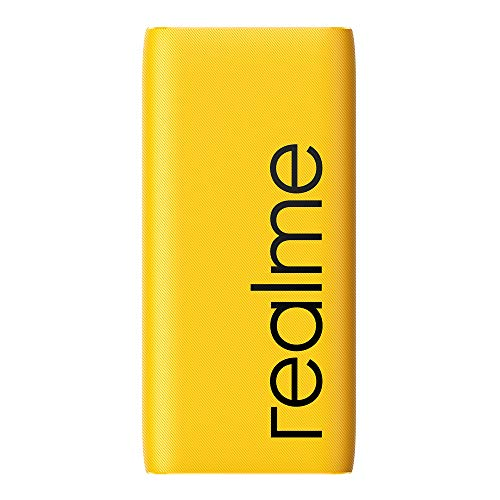 realme 20000 mAh Power Bank (Quick Charge 2.0, Power Delivery 2.0, 18 W) Yellow