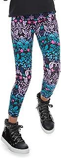 Disney Girls Descendants Floral Pattern-Sequin Leggings Pants