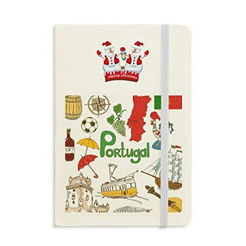 Notizbuch, Motiv: Portugal Landschaft Tiere, Nationalflagge, Weihnachten, Schneemann, dick, Hardcover
