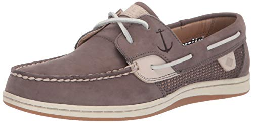 Sperry Women's Koifish Mesh Boat Shoe, Grey, 8.5