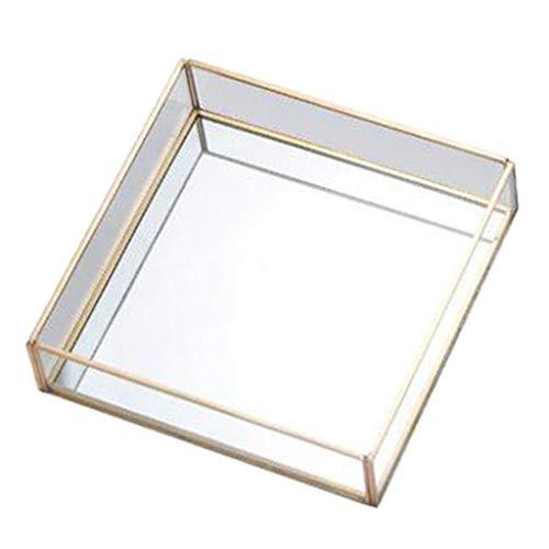 perfk Caja Decorativa de Cristal de La Tabla del Hogar/de La Oficina...
