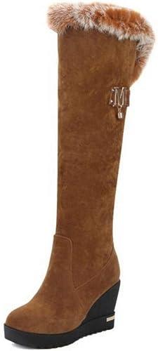 ZHRUI Stiefel para damen - Stiefel para la Nieve Calientes Antideslizantes de Invierno schuhe de algodón Stiefel Altas   34-39, Gelb, 37 (Farbe   como se Muestra, tamaño   Un tamaño)