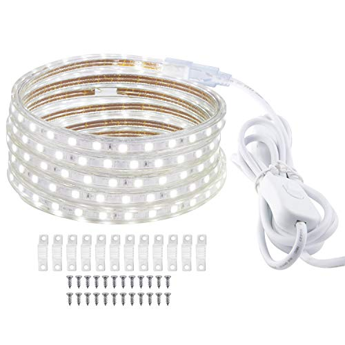 LED Strip 2 Meter LED Licht IP65 Wasserdicht LED Streifen, Weiß