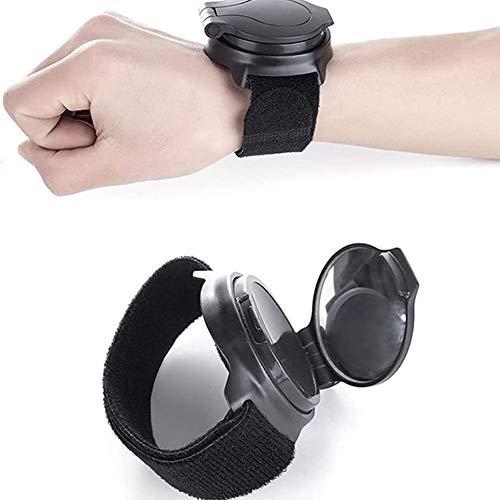 Fahrradrückspiegel Adjustable Wrist Wear-Fahrrad Spiegel Armband Sicherheit Zurück Rückspiegel Für Radfahrer Mountain Road Bike Riding,Schwarz