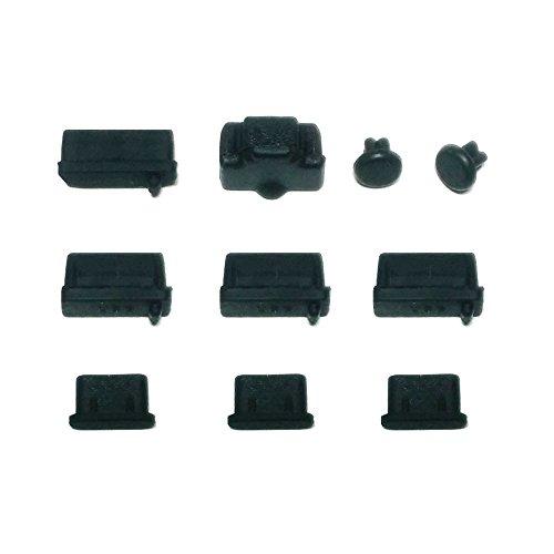monofive ノ-トパソコン用 (USB Type-C対応) 各種保護カバー 10個入 シリコンタイプ (黒) MF-CAP5-C10B