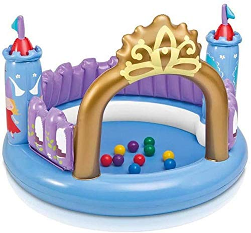 Bouncy Castle Children s Toys Inflatable Princess Castle with Ocean Ball and Air Blower for Indoor and Outdoor entertainment 130 * 91cm Uptodate