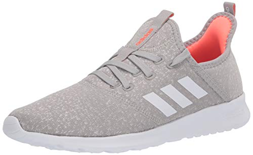 adidas Women's Cloudfoam Pure Running Shoe, Metal Grey/Chalk White, 8.5 Medium US