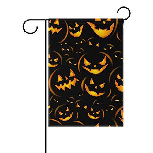 SENNSEE Citrouille d'halloween Fun Garden House Drapeau 30,5 x 45,7 cm Double Face Yard Drapeau extérieur Décoration de Maison, Polyester, Multicolore, 28x40(in)