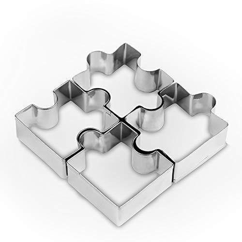 SPGHOME Ausstechform aus Edelstahl, 4 Puzzleform, Keksausstecher zum Selbermachen